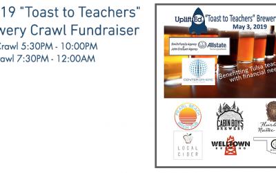 "5-3-19 ""Toast to Teachers"" Brewery Crawl Fundraiser"