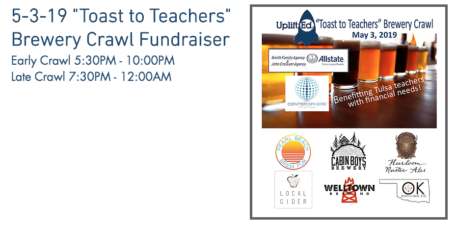 "5-3-19 ""Toast to Teachers"" Brewery Crawl Fundraiser"